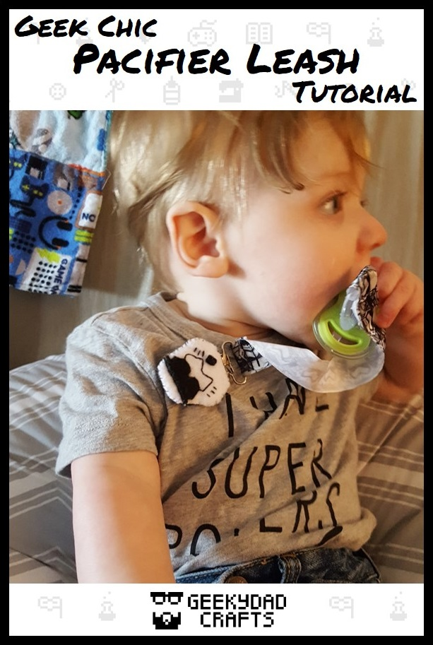 Baby T has found his bliss (and his pacifier)