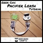Storm Trooper themed pacifier leash